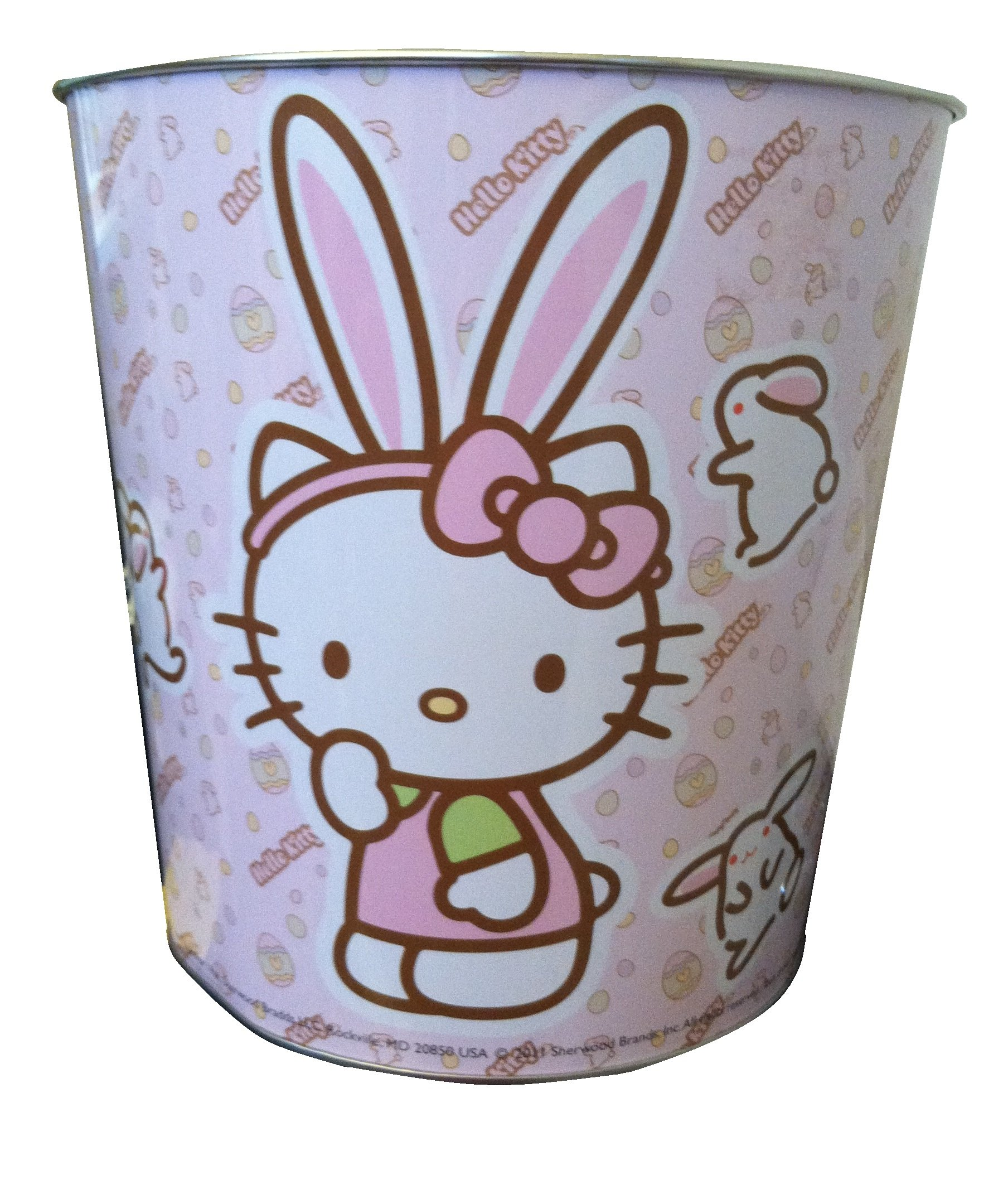 a4bb3328ef96 Get Quotations · HELLO KITTY Metal Garbage Can ~ Waste Basket