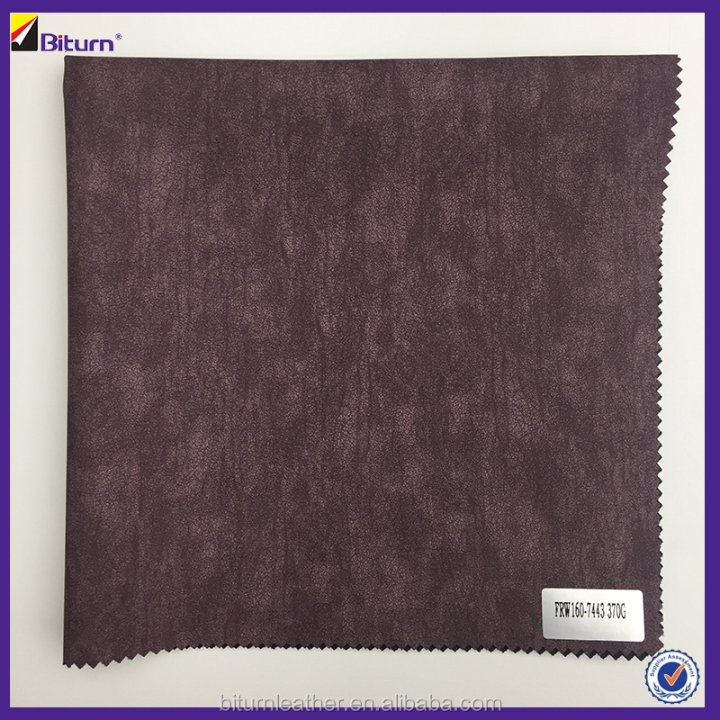 2017 used pu fabric leather for making leather jacket/garment