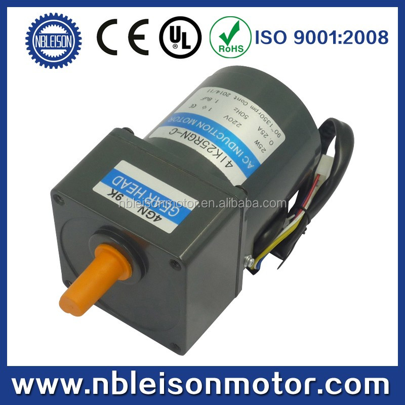 110v 220v high torque low rpm 60w induction small ac gear for Low rpm ac electric motor