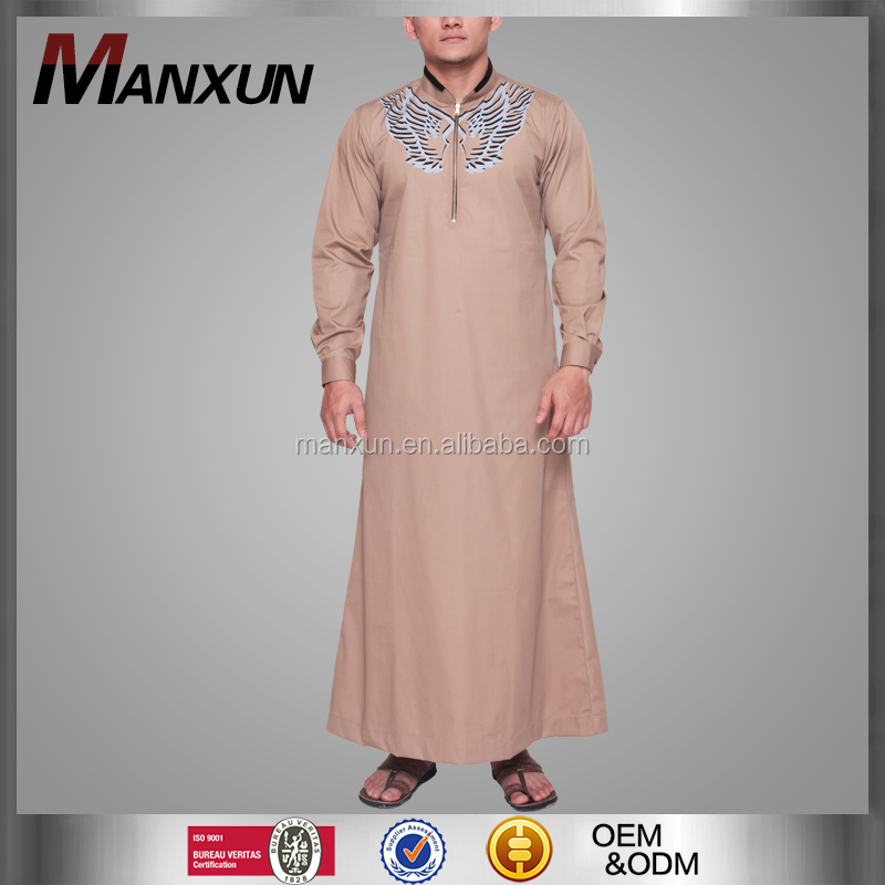 New Arrival Moroccan Daffah Thobe Design For Men Good Quality Cool Muslim Jubba Manufacturer