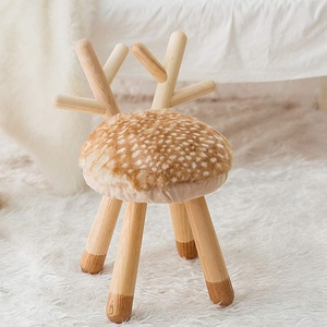 Turkey Spain Indian solid wood stool home furniture foot stool chair to eat baby wood fisher price para bebes round pouf