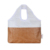 Recyclable Feature Hand Length Handle/Sealing craft paper tote bag for food