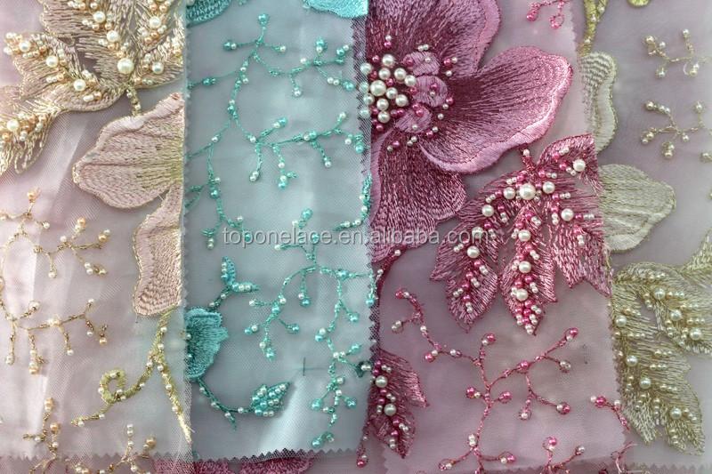 Fancy d floral lace fabric for celebrity wedding dresses