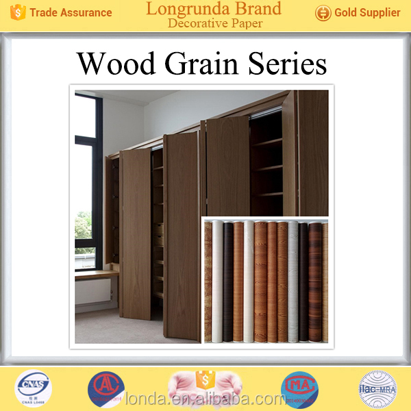 Longrunda Wholesale Price Factory Direct china home materials new wood texture paper for cabinets