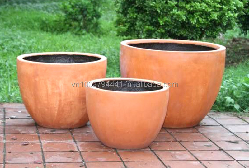 Whole Lightweight Fiber Clay Pots Planters Concrete Pot Glossy Matte Terrazzo Fibergl Polystone Terracotta Flower
