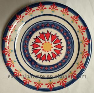 China Good cheap dishes embossed plate