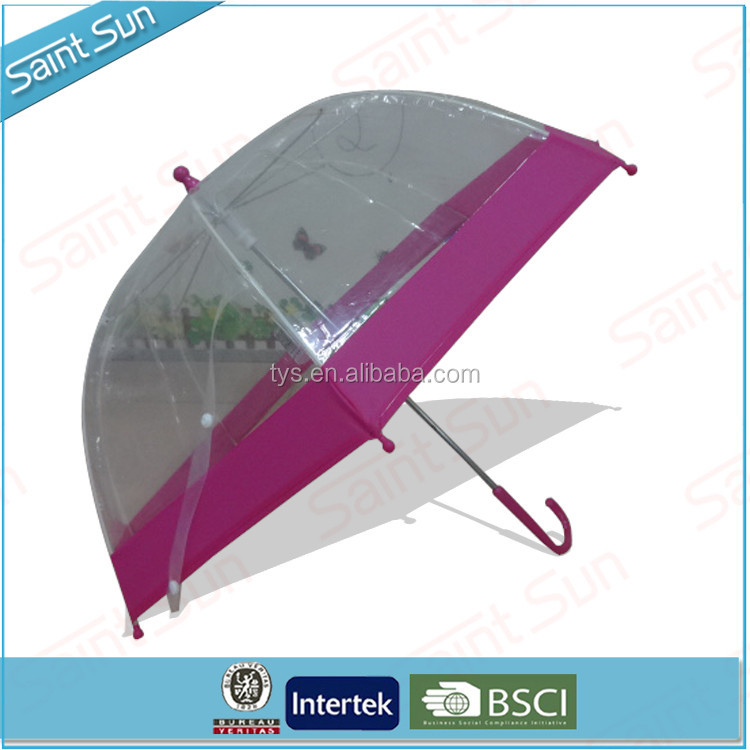 ECO Friendly Clear Transparent Kids Dome Bubble Umbrella