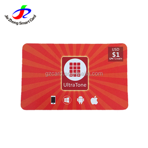Good quality pin number printed scratch off card for molible phones