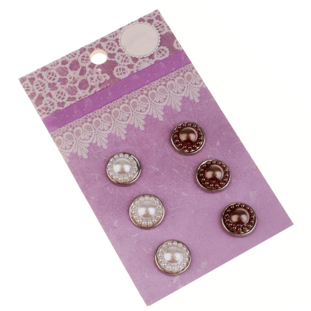 Flameer 100pcs 7.5mm Flower Shape Metal Brads Scrapbooking Embellishments DIY Craft
