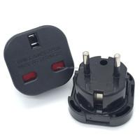 Quality safety UK to European plug travel adapter, uk to eu travel adapter plug uk 3 pin to eu 2 pin adaptor plug 9625