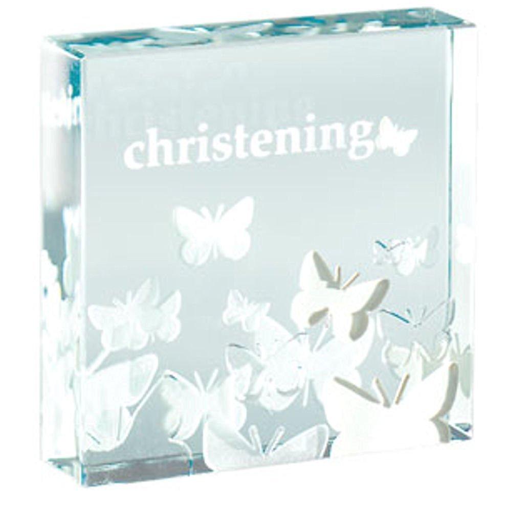 Spaceform Glass Paperweight - Christening Butterflies