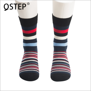 Wholesale high quality unisex young fashion stripe design 3 pair private label happy sock