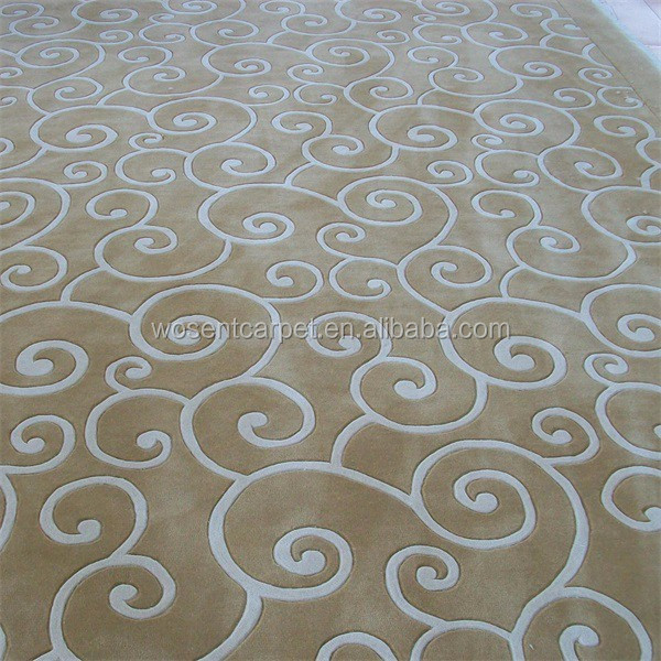 Colorful Cheap Price Nonflammable Silk Wool Blended Carpet
