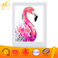 Hot Sale Flamingos Picture 5d Diy Diamond Painting Resin Art Work MQ333