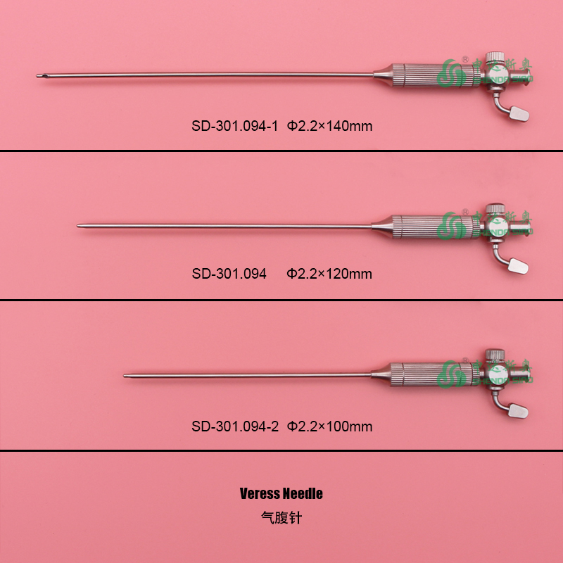 Laparoscopic Endoscopic Veress Needle 2.2*140 mm /120mm /100mm