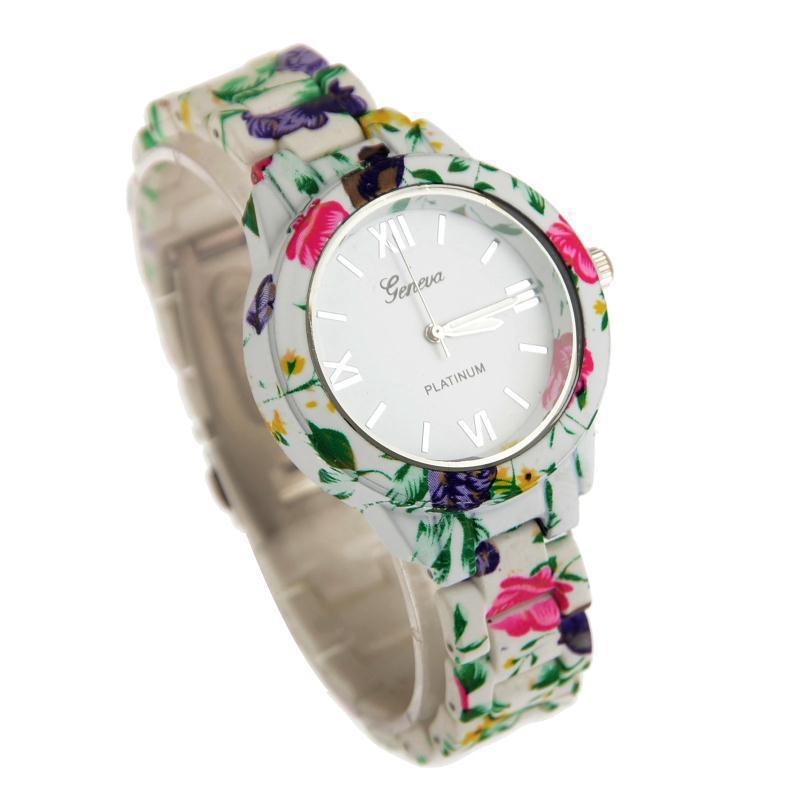 1f75cb8f3f81 Get Quotations · Relojes Mujer 2015 Ladies Floral Flower GENEVA Watches  Dress Watch Geneva Quartz Watches orologio da polso