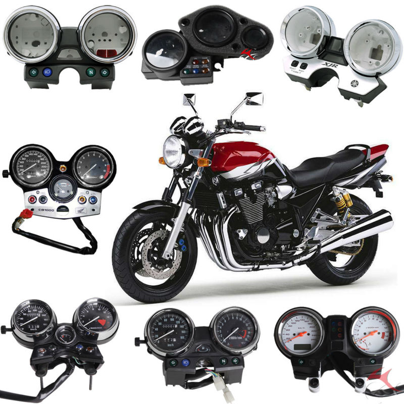 moto compteur de vitesse et logement couvre pour honda kawasaki yamaha suzuki compteur moto. Black Bedroom Furniture Sets. Home Design Ideas