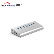 Super transfer speed 5Gbps reversible aluminium 7 port powered usb 3 hub usb 3.0 hub