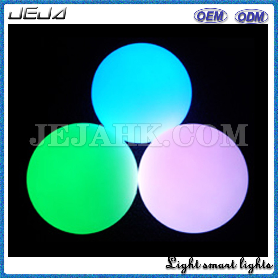 Set of 6 Mood Light Pool Deco Ball Orb with Spare Replacement Batteries