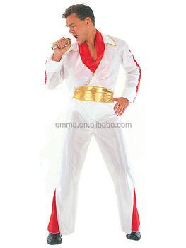Adult King Of Rock N Roll Fancy Dress Costume Party Elvis Presley Men s  1950s New BMG17303 08d8e036d676