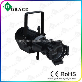180W RGBW LED Profile spot Ellipsoidal gobo projector light