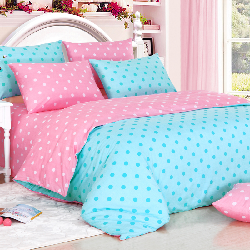 Fashion Polka Dot Piece Set Bedding Cotton 100 Slanting