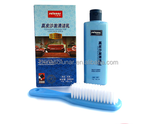 Leather Cleaning Cream with Brush and Glove 245ml A2101w