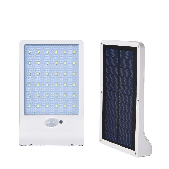 High quality unique All in one solar outdoor 3.5W PIR motion sensor IP65 led garden walllamp