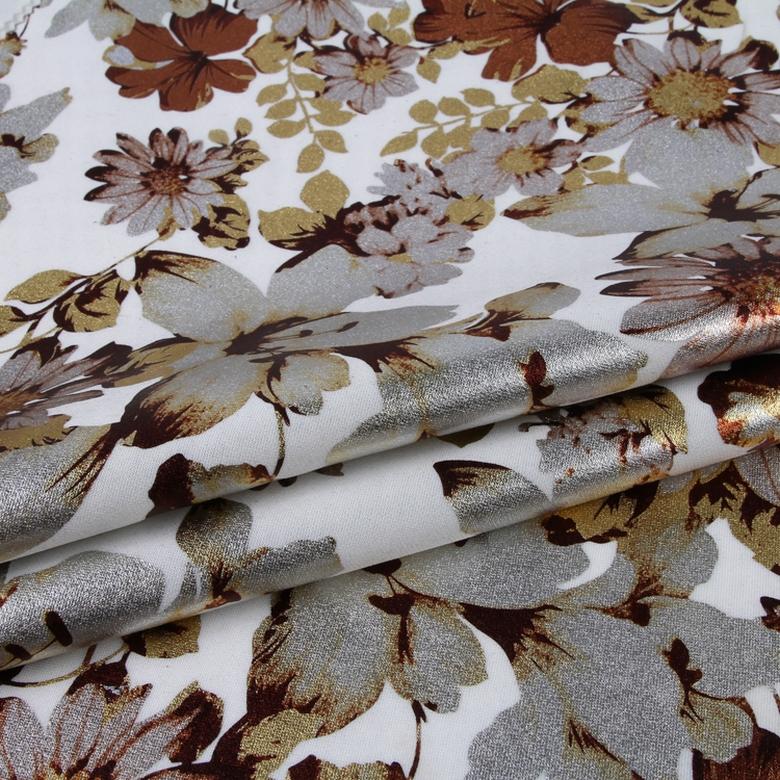 Bonne conception d'impression floral chemise fleur motif polyester spandex tissu de plongée