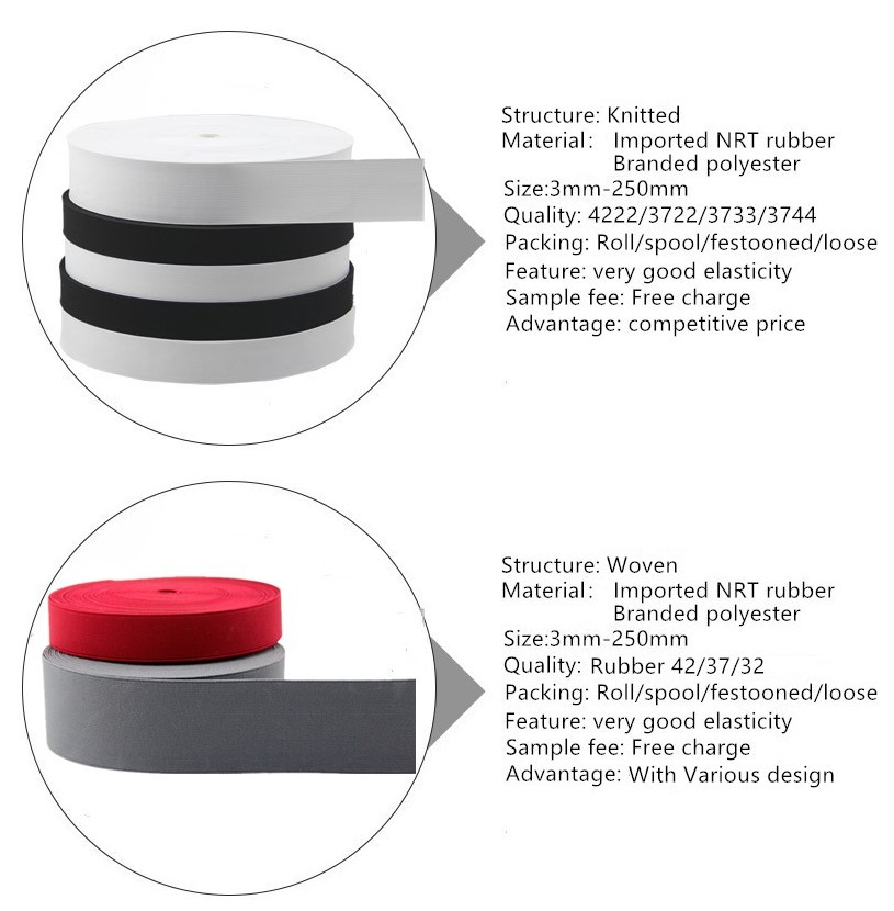 Imported Nrt Rubber Knitted Elastic Tape For Clothes - Buy Knitted Elastic  Tape,Knitted Elastic,Elastic Tape For Clothes Product on Alibaba com