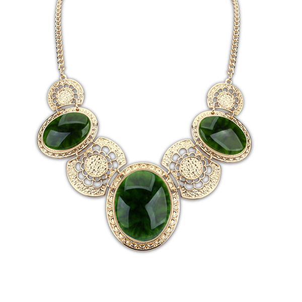 Charming Indian designer fashion semi bridal necklace set with Emerald,Ruby /& clear stones