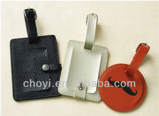 PU Leather Luggage Tag holder For Promotional