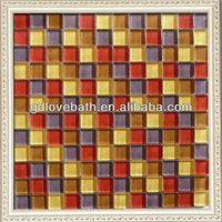 angel bathroom decor glass floor mosaic tiles