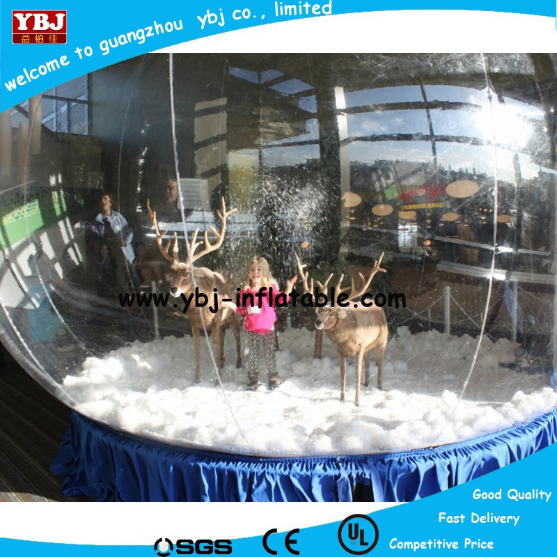 2015 Inflatable christmas snow globe, advertising snow globe, inflatable take picture snow globe tent