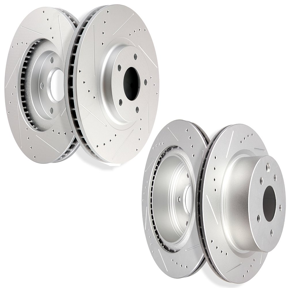 2pcs Front Brake Discs Rotors Kit For 2003 2004 2005 350Z Vented Drilled Slotted