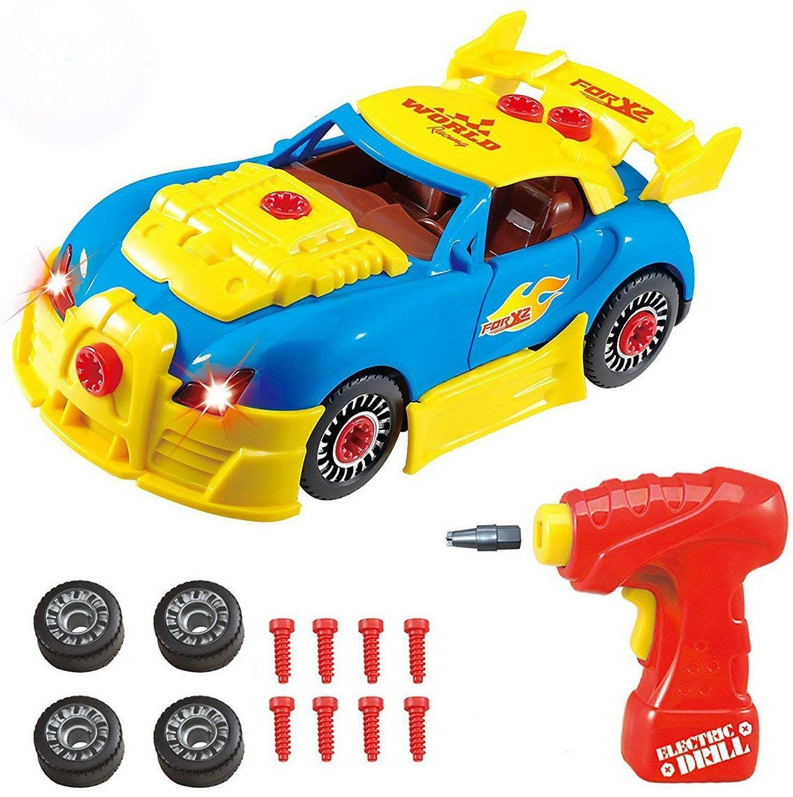 Toys for 2-3 Year Old Boys, DIMY Toys Cars Take Apart Racing Car Toys Constructions Set Educational Toy Gifts for 3-6 Year Old Boys Mothers Day Gifts DMTC01