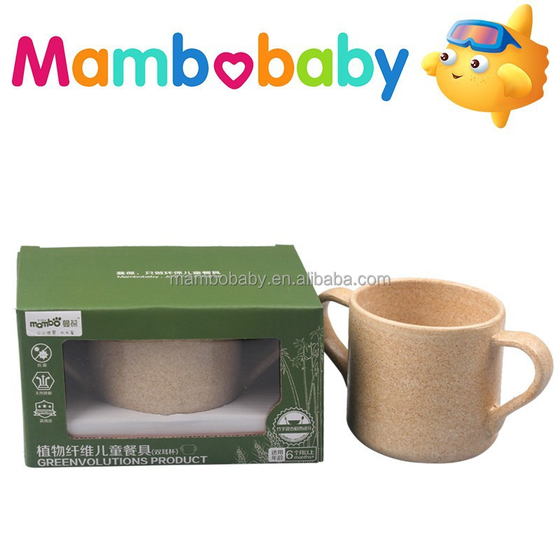 Natrual Rice Husk Bamboo Fiber Children's tableware cup