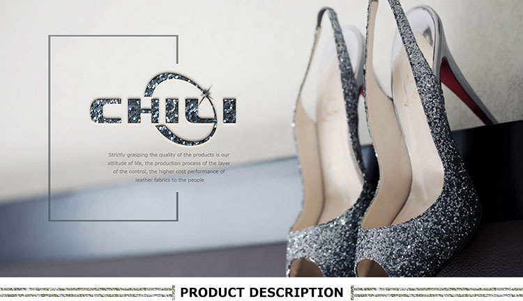New design hight quality bags shoes hairbows shiny colorful PU Chunky Glitter leather fabric