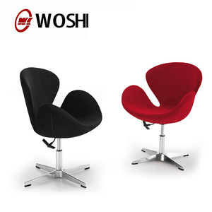 2014 Hot Best Guangdong Office reception swan Chair swivel Without Wheels