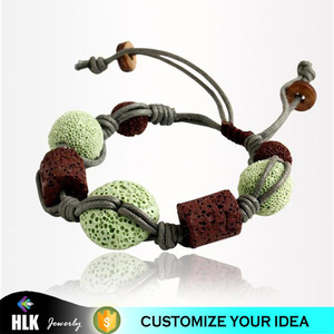 china jewelry wholesale handmade wrap lava stone bracelet for women