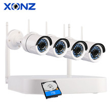 4CH P2P 720P HD Wholesale Indoor IP66 Home Wireless IP Wifi Security Recording Kit Camera CCTV System
