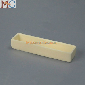 99 Al2O3 Alumina Industrial Ceramic Boat Crucible For Melting Steel