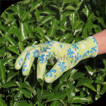 SRSAFETY seamless line waterproof garden working gloves/nitrile glove/colored nitrile gloves