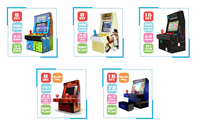Groothandel Mini Bartop Arcade Machine Kopen Hand Held Handy Handheld Indoor Import Retro Vintage Video 8 Bit Games Console Voor kids