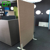 Manufacture PET Stiff Partition Panels 100% Recycled Polyester Acoustic Board