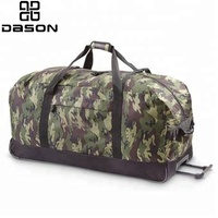 Large Camo Travel Trolley Bags