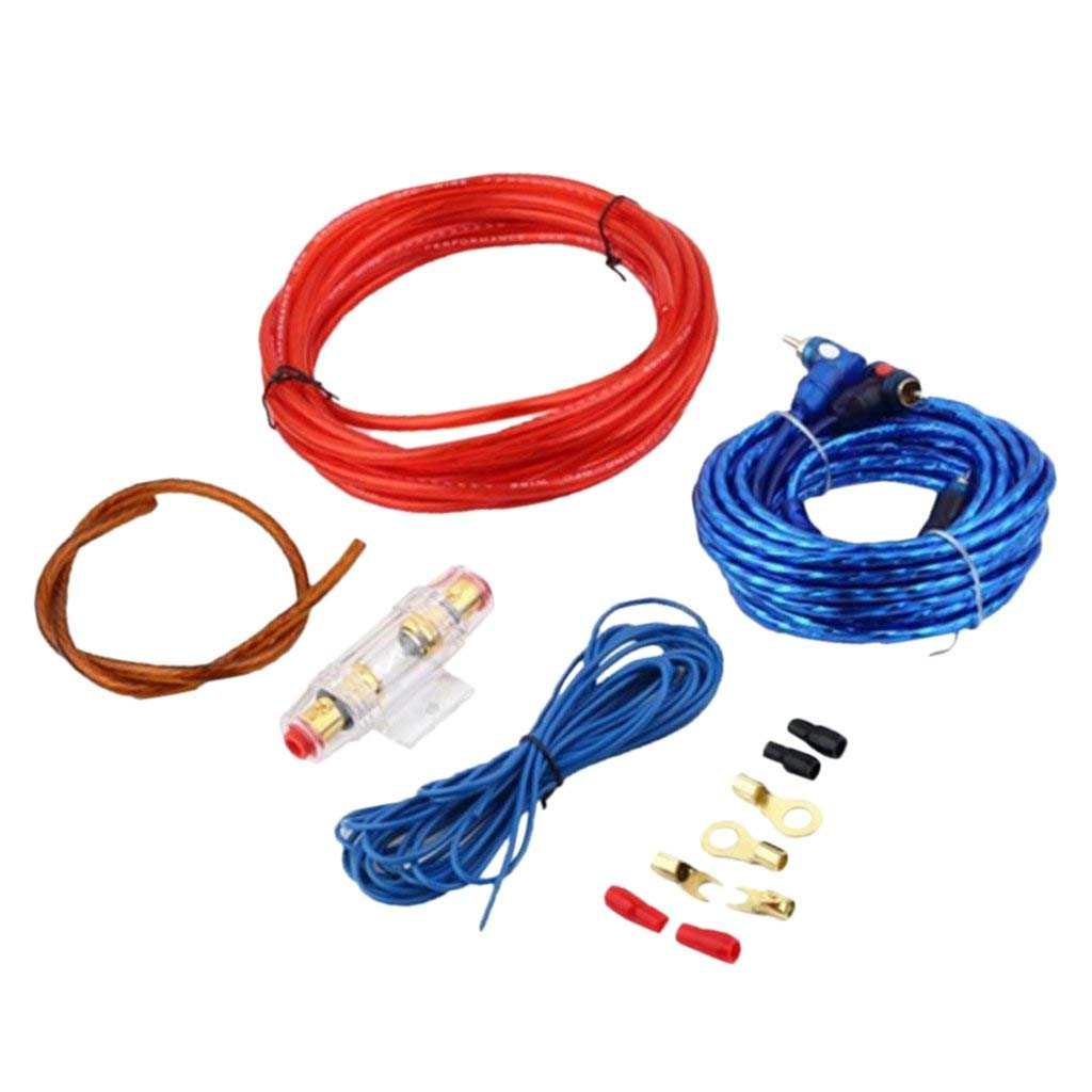 Car Fuse Box Ground Wiring Library Cables Get Quotations Dolity Audio Cable Set Power Rca Wire Holder Circuit Breaker
