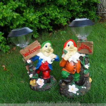 Christmas Lights Ornament Garden Gnomes Solar Lamp