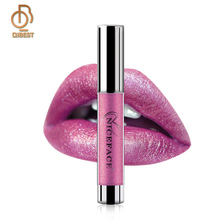 QIBEST Make Multicolor Glanzende Sprankelende <span class=keywords><strong>Shimmer</strong></span> Diamond <span class=keywords><strong>Lipgloss</strong></span> Metallic <span class=keywords><strong>Lipgloss</strong></span>