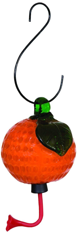 Gardman BA05724 Glass Hummingbird Feeder, Orange